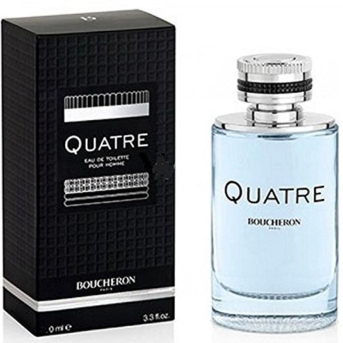 Bŏucherŏn Quâtre Còlogne for Men 3.4 fl.Oz Eau De Toilette Spray