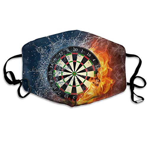Dart Board Target Ice Fire Flu Dust Masks Reusable Cotton Breathable Safety Respirator for Outdoor Cycling Face Earloop Masks Dust Pollen Flu Germs Allergens Masks