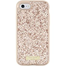 kate spade new york Wrap Case for iPhone 7 - Rose Gold Exposed Glitter