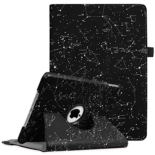 Fintie iPad 9.7 inch 2018 2017 / iPad Air Case - 360 Degree Rotating Stand Protective Cover with Auto Sleep Wake for Apple iPad 9.7 (6th Gen, 5th Gen) / iPad Air 2013 Model, Constellation