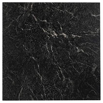 Amazon.com: NEXUS Self Adhesive Vinyl Floor Tile - Black with White Vein Marble (12x12 100 Tiles): Home Improvement