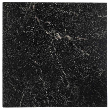 NEXUS 12x12 Self Adhesive Vinyl Floor Tile - 20 Tiles/20 Sq.Ft. (Black with White Vein -