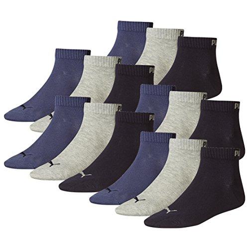 Navy Nightshadow Azul Mens Quarter Blue Pair Grey Socks Sneaker Ladies amp; 15 Unisex Puma zBvqx6x