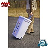 Rolling Laundry Hamper Basket Clothes Portable Storage Wheeled Organizer Bin New Durable Slim Tall Flip-Top Lid Container Bin & eBook by BADA shop