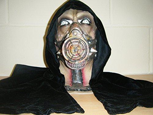 WRESTLING MASKS UK Hooded Gas Mask Monster Zombie Deluxe Halloween Full Head Fancy Costume Mask -