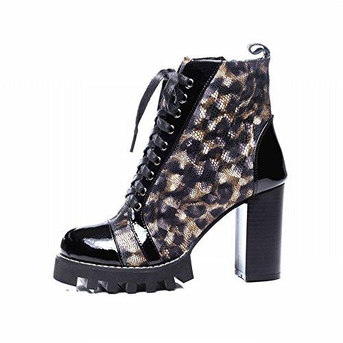 de Imperméable Chaussures SED Mode Martin Style Chaussures Rongli Occidental Sexy Épais Épais Grandes Bottes avec qawpPxHSnp