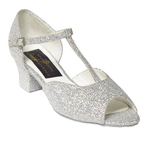 Tappers & Pointers  CHLOE, Chaussures de danse pour fille Argent argent