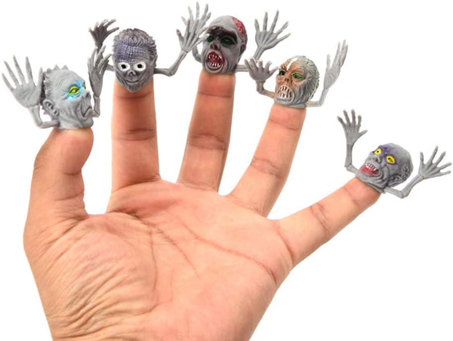 PRETYZOOM 5 Pi/èces Halloween Doigt Marionnette Personnage Doigt Jouets Halloween F/ête Faveurs Goodie Sac Remplisseurs pour Enfants Adultes