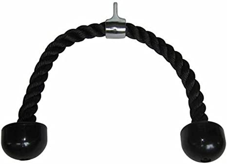 Negro winomo tr/íceps Gym Cable Deslizar Tirar hacia abajo brazo Prensa Bar Cable Cuerda Fijaci/ón para ejercicio body Building Aparatos de fitness