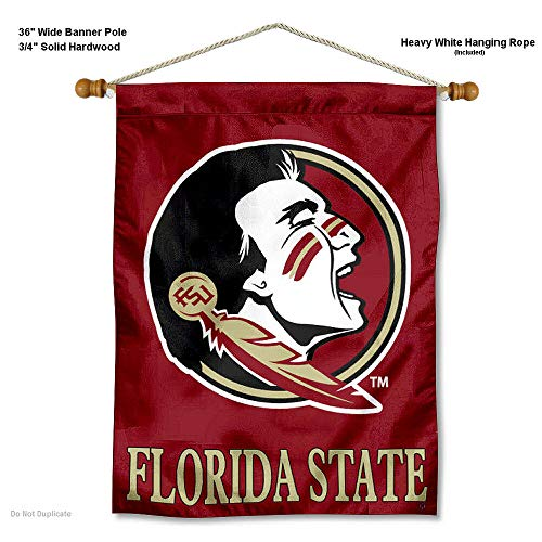 - College Flags and Banners Co. Florida State Seminoles Banner with Hanging Pole