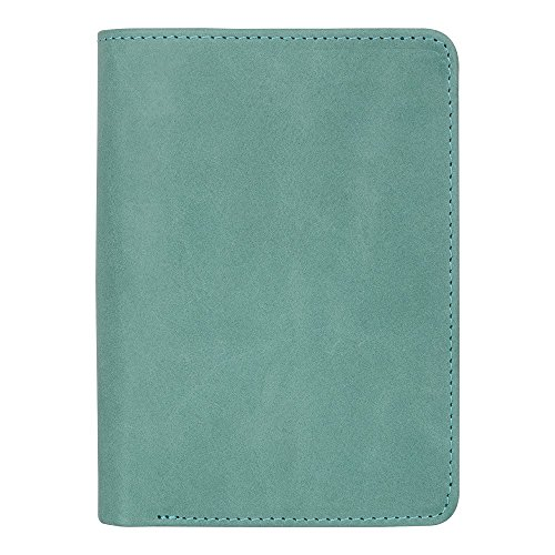 Police Badge Wallet, All Leather, Fits Any Shape Badge with a Pin Back -Turquoise