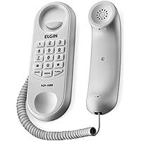 Telefone Com Fio Tipo Gondola Elgin Tcf1000 Branco, Elgin, Tcf1000B, Branco