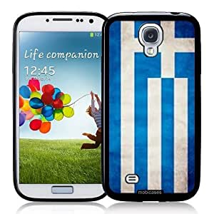 Cool Painting Flag of Greece Grunge - Protective Designer BLACK Case - Fits Samsung Galaxy S4 i9500