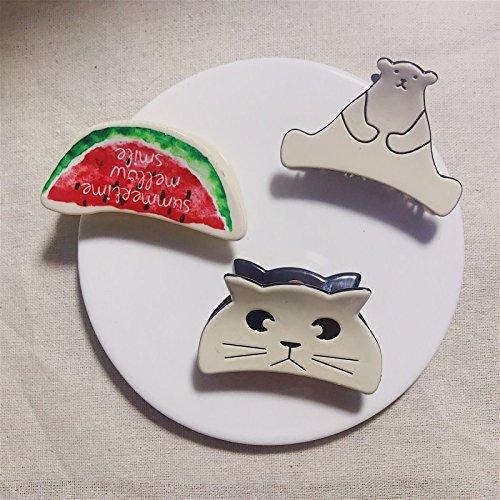- usongs Japan 21 large custom folder printing caught cute cartoon fruit Ishihara hairpin hair caught hairpin