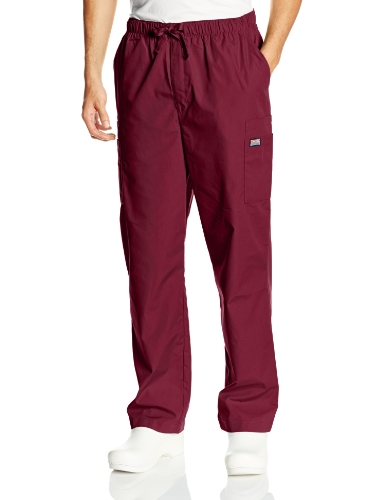 Cherokee Men's Originals Cargo Scrubs Pant, Wine, Large Short