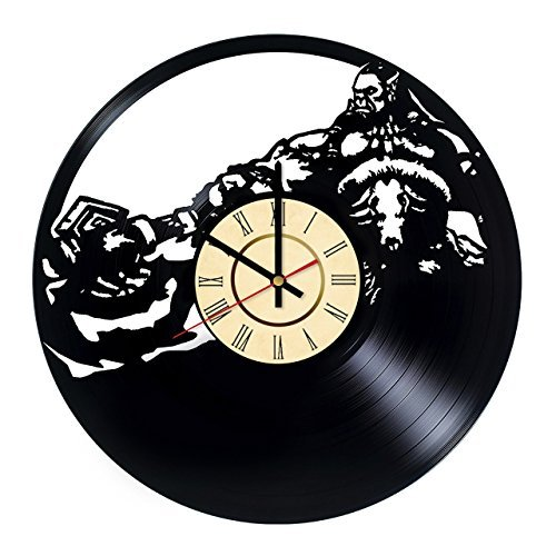 Fun Door World of Warcraft Alliance Handmade Vinyl Record Wall Clock for Birthday Wedding Anniversary Valentine's Mother's Ideas for Men and Women him and her]()