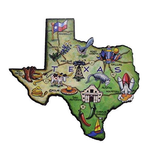 Texas The Lone Star State Large State Shaped Artwood Jumbo Fridge Magnet (Shaped Fridge Magnet)