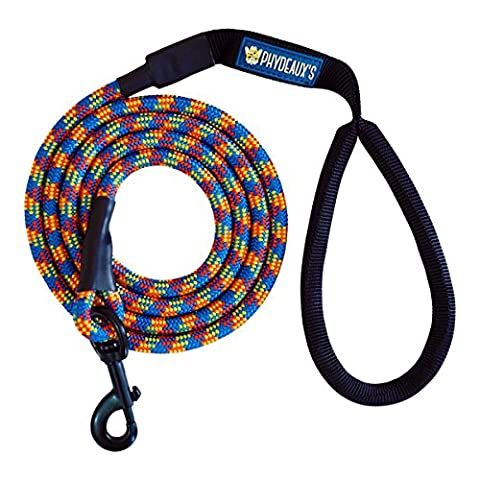 Phydeaux's Mountain Climbing Rope Dog Leash - 6 ft Long - Heavy Duty - Perfect for Medium and Large Dogs (Wild Animal)