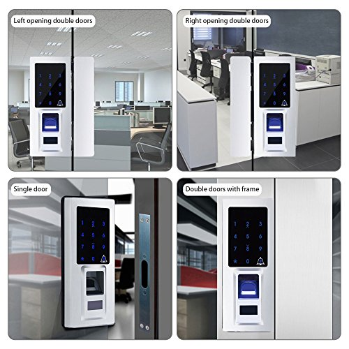 Security Biometric Fingerprint Door Lock for Glass Door, Free Punching,Supporting Double Open-Door and Single Open-door by Porlik (Image #5)