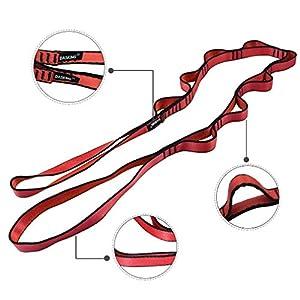 DASKING 2pcs Strong Climbing Strap Adjustable Strap Rope Strong Daisy Chain Nylon Daisy Chain Yoga Strap