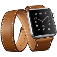 AutumnFall Double Tour Leather Watch Band and Double Loop Strap with Classic...
