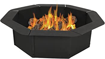 Sunnydaze Octagon Heavy Duty Steel Fire Pit Ring Liner Insert