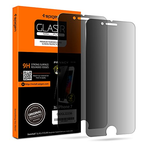 Spigen Privacy Glass iPhone 8/7 Screen Protector [ Tempered Glass/Black Privacy ] [ Case Friendly ] for Apple iPhone 8 [2017] / iPhone 7 [2016] (2 Pack)