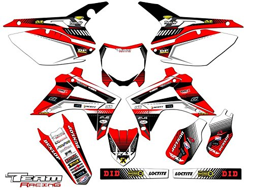 Team Racing Graphics kit for 2013-2016 Honda CRF 450R, ANALOG (450r Accessories Crf)