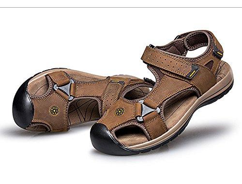 Il pattino degli uomini di movimento del movimento di movimento di svago libero dei sandali di New Summer Beach, formato marrone, UK = 7.5, EU = 41 1/3