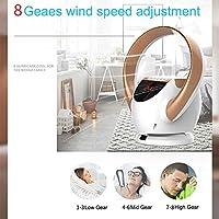 Ventilador de torre Oscilación, Ventiladores por evaporación, ventilador de aire sin aspas, ventilador de escritorio pequeño Ventilador de aire acondicionado montado en la pared, silenciador gris: Amazon.es: Hogar