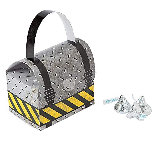Fun Express Construction Zone Tool Favor Boxes (12 Pack) (Tool Party Favors)