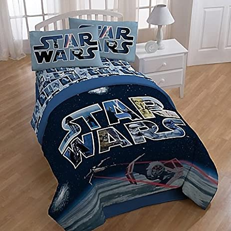 star wars space battle comforter and sheets 5pc bedding set full size