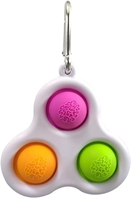 Stress Relief Handheld Toys for Kids Purple Green + Orange Green WKCXX Simple Dimple Fidget Toys Decompression Toys That Easy to Carry
