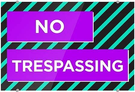 36x24 No Trespassing Victorian Frame Premium Brushed Aluminum Sign CGSignLab 2470285/_5mbsw/_36x24/_None