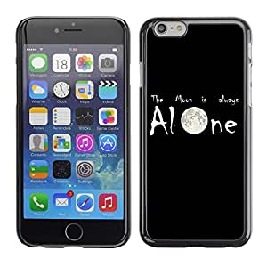 PC/Aluminum Funda Carcasa protectora para Apple Iphone 6 Moon is Always Alone; / JUSTGO PHONE PROTECTOR