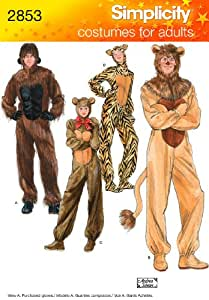 ... Sewing Patterns  sc 1 st  Amazon.com & Amazon.com: Simplicity Sewing Pattern 2853 Adult Costumes A (XS ...