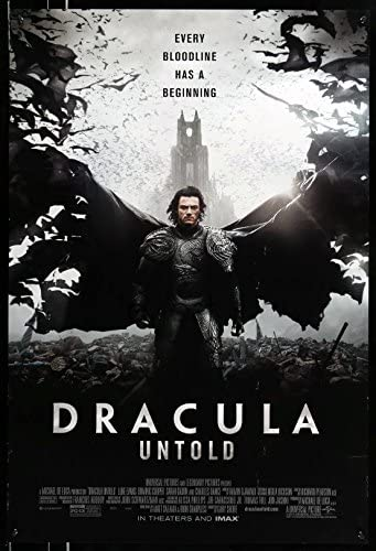 Dracula Untold 2014 One Sheet Poster 27x40 Double Sided At Amazon S Entertainment Collectibles Store