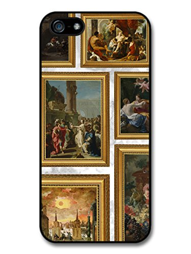 Classic Vintage Paintings in Frames on Cool Goth Grunge Marble Effect case for iPhone 5 5S