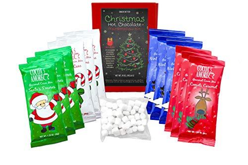 Kids Christmas Hot Chocolate and Marshmallow Gift Box (Kids Christmas Chocolate)