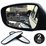 EEEKit 2Pcs Universal Auto Wide Angle Convex Rear Side View Blind Spot Mirror for Car