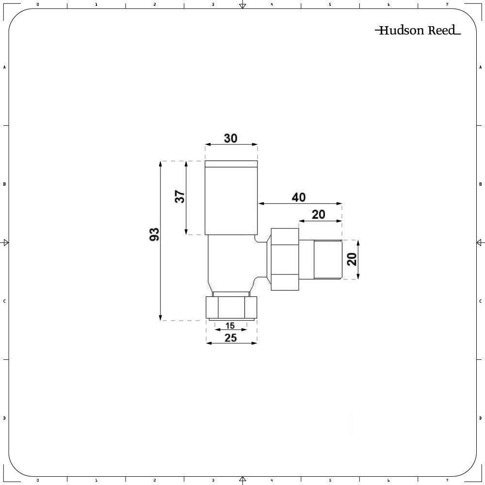 Hudson Reed Control Paar Anthrazit Modern Abgewinkelte Ventile