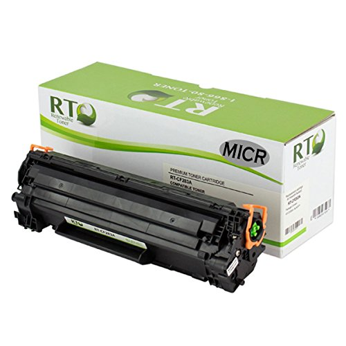 RT 83A Compatible MICR Toner Cartridge HP CF283A for check printing on HP LaserJet Pro MFP M125 M127fn M127fw printer models