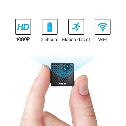Fredi 1080P HD Cámara Oculta Mini Micro Wireless WiFi Cámara Espía Cámara de vigilancia camera con