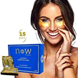 Collagen Peptides Under Eye Treatment | Revitalizing Eye Mask with Hyaluronic Acid & Witch Hazel | Eye Patches Moisturize, Reduce Dark Circles, Puffiness & Wrinkles | 15 Pair