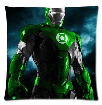 Diy-Hot Green Lantern Logo In Iron Man Bed Setting 45X45 Cm Throw Pillow Cases