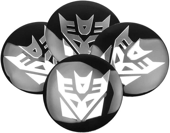 Color : A Csfssd Transformers 4PCS 60mm Autobots logo wheel center wheel cover car wheel center cap badge label automotive styling accessories