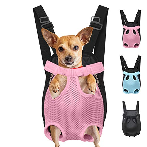 Henkelion Dog Carrier Backpack Front Pack, Pet Carrier Back Pack for Small Medium Cat Puppy Doggie, Dog Body Carrying Bag Sling Backpack, Dog Treat Holder