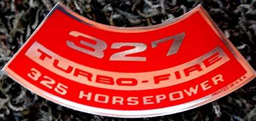 CHEVROLET AIR CLEANER TOP LID DECAL For The 327 TURBO-FIRE 325 hp HORSEPOWER ENGINE - ()