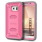 ulak galaxy note edge case - Galaxy S6 Case,S6 Case,ULAK KNOX ARMOR built in Screen Protector Full body Heavy Duty Protection Shock ReductionBumper Corner for Samsung Galaxy S6 S VI G9200 GS6 All Carriers Rosered