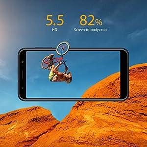 """ASUS ZenFone Max M1 (ZB555KL-S425-2G16G-BK) – 5.5"""" HD+ 2GB RAM 16GB storage LTE Unlocked Dual SIM Cell phone – US Warranty – Deepsea Black"""